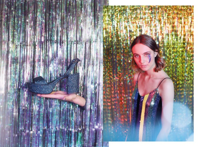 nueva coleccion brilli brilli krack core starlight sandalias azules purpurina