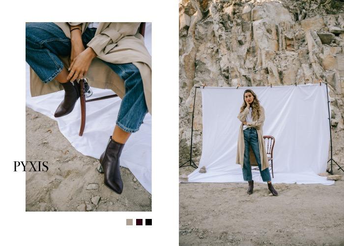 botas negras de tacon zapatos staff collection aura en krackonline