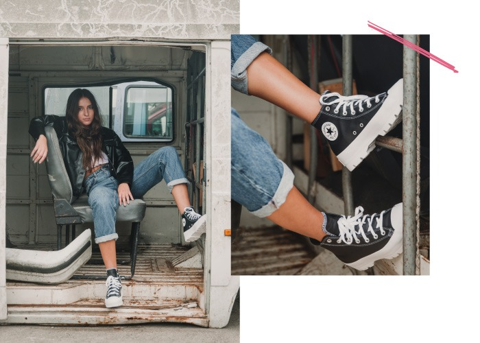converse all star lugged color negro