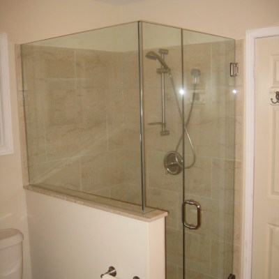 Half Wall Glass Enclosure