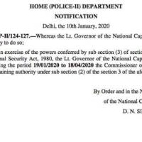 Delhi Police Chief Granted Powers To Detain Under National Security Act