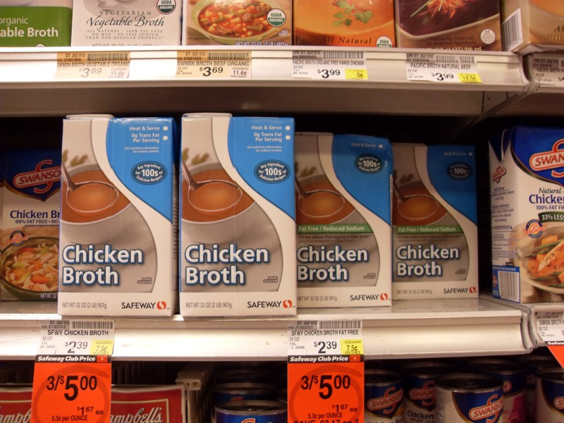 No, Put the Chicken Broth Back!