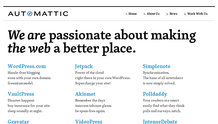 Screenshot of automattic.com