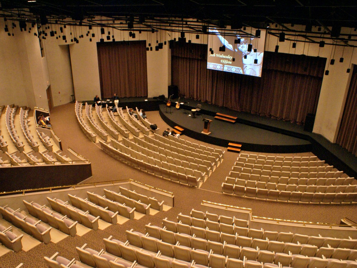 An empty auditorium