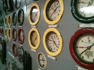 Various status gauges.