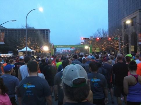 Starting Line, 2015 Austin Marathon