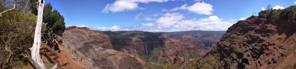 Waimea Canyon with waterfalls