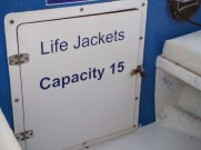 I liked the padlock keeping us safe from the life jackets.