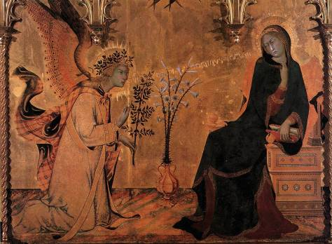The Angel Visits Mary, MARTINI, Simone Annunciation, 1333  (photocredit: flickr/carulmare