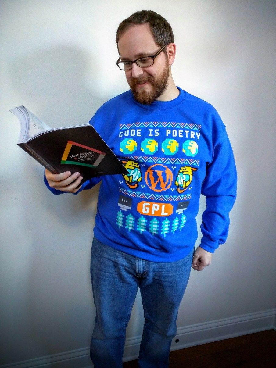This is not an ugly Christmas sweater. It's a sweatshirt.