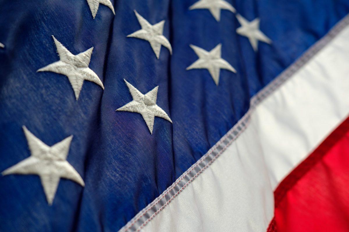 Close-up of the U.S. flag