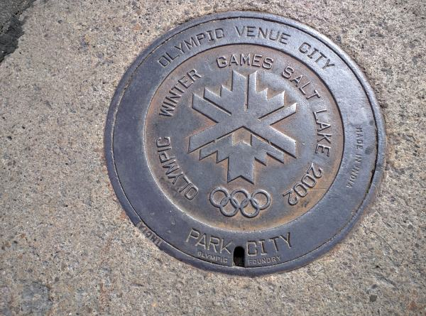 The Park City manholes are still excited about the Olympics.