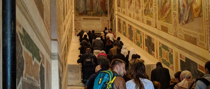 Picture of the Holy Stairs in Rome