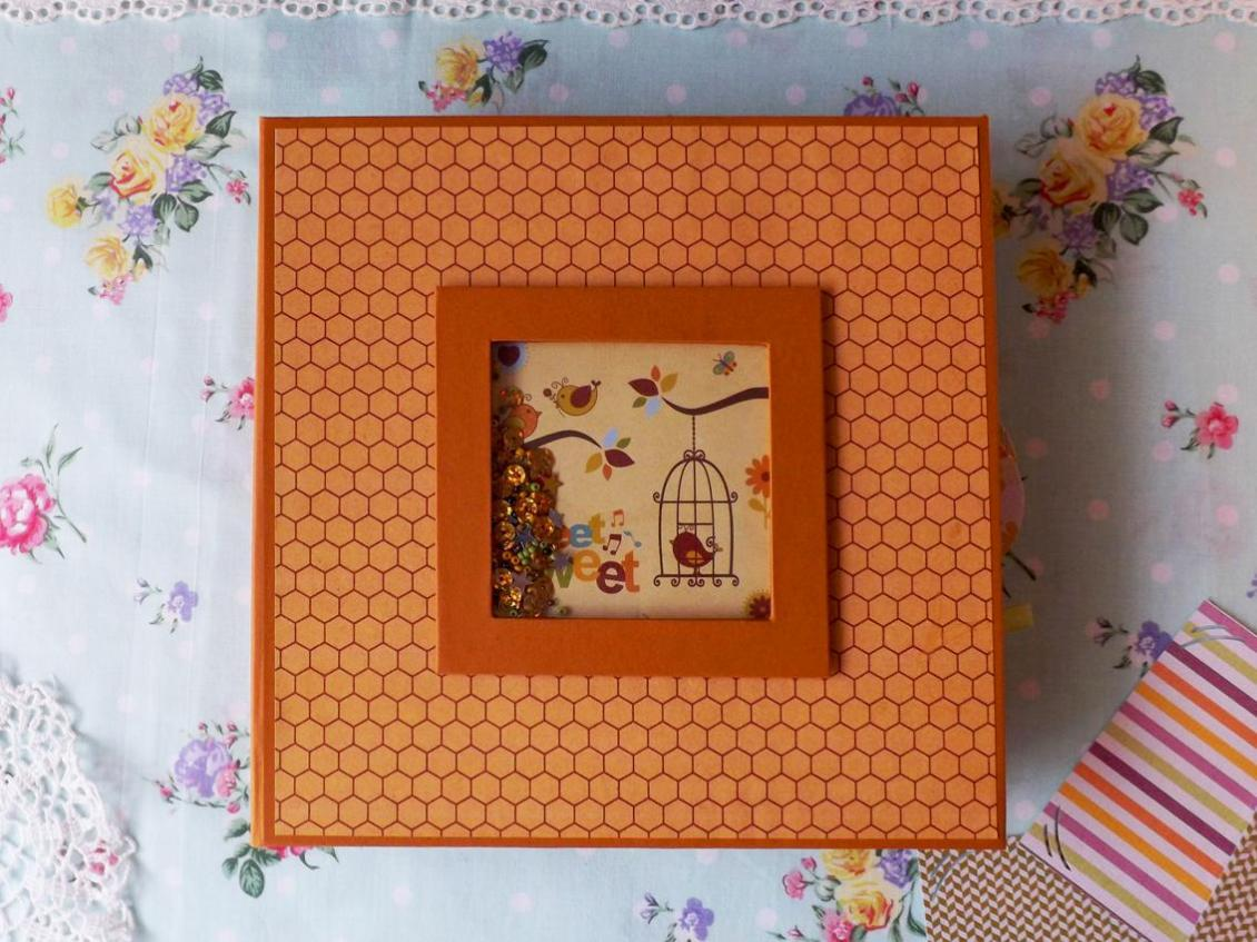 album foto handmade, shaker box, album foto scrapbook, scrapbooking shaker box
