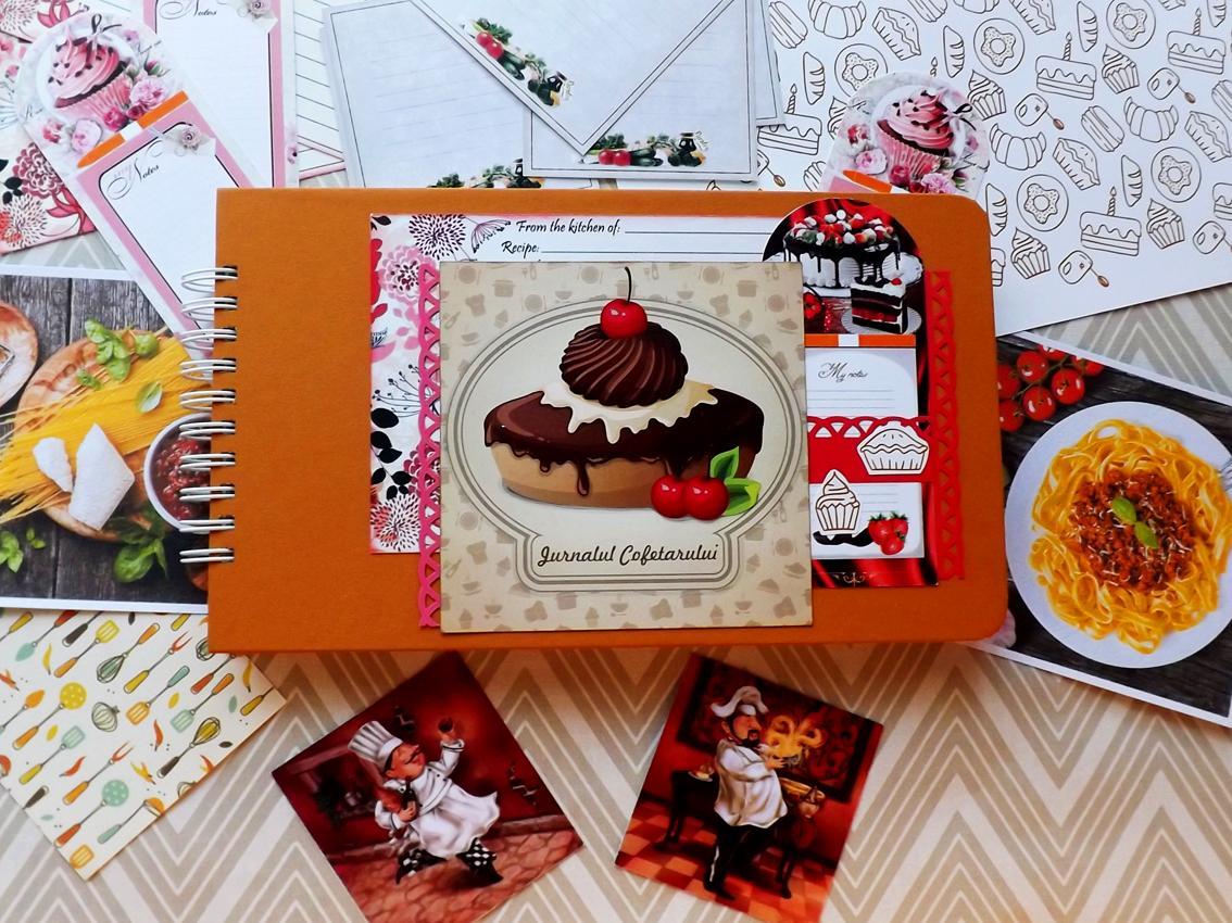 jurnal culinar, jurnal handmade, jurnalul cofetarului, jurnal handmade la comanda