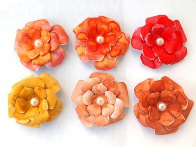 flori handmade pentru scrapbooking