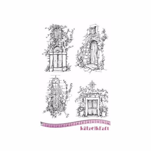 les-portes-rubber-stamp-french-style