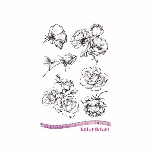 les-roses-rubber-stamp-french-style