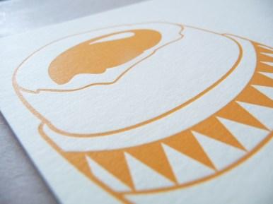 """Carte """"Oeuf à la coque"""" par Kraftille"""