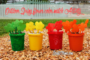 Spring Flower Color Match activity