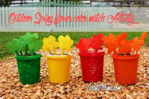 Spring Flower Color Match activity