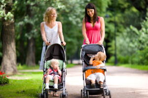 things I Learned From Parenthood, moms talking, strollers