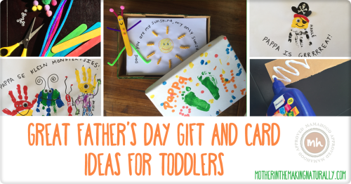 Great Father's Day Gift and Card Ideas for Toddlers