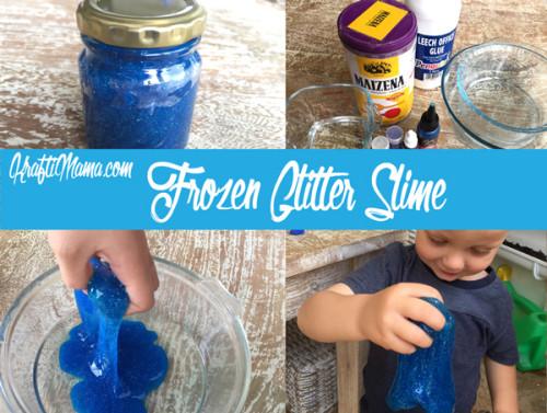 Frozen, Glitter Slime, Crafts