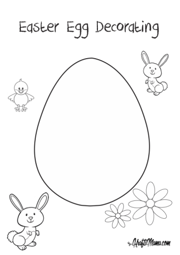 EasterEgg Decorating, free printable, coloring pages