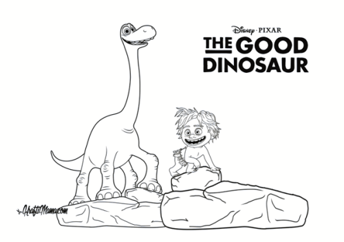 Free Printable Coloring Page – The Good Dinosaur