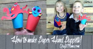 Paper crafts Hand Puppets, KraftiMama