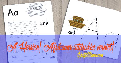 Afrikaans Alfabet Verniet- A Hersien!