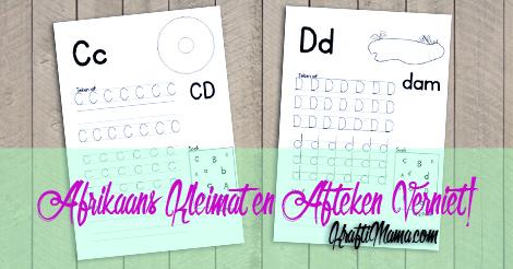 KraftiMama Free Printables, C D werksblaaie