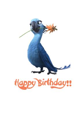Happy Birthday Rio Printable