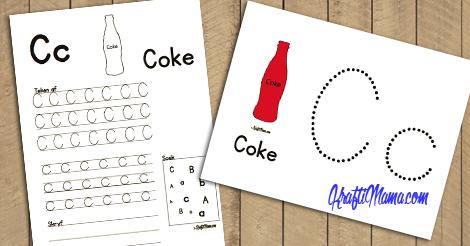 KraftiMama Free Printables, Uitdrukke Verniet, C Coke