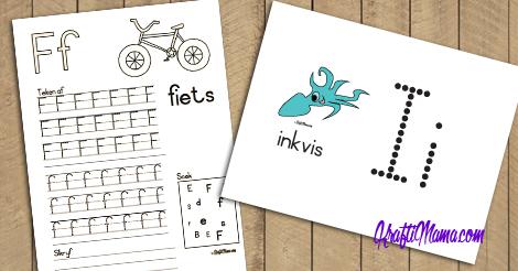 Afrikaans Alfabet F-I Werksblaadjies en Kleimatte