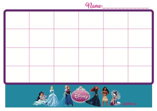 photograph regarding Free Printable Sticker Charts named Sticker Chart Princesses No cost KraftiMama