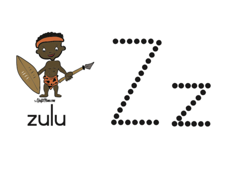 KraftiMama Free Printables, Alphabet, Z for Zulu