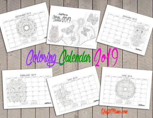 kraftimama printables coloring calendar 2019