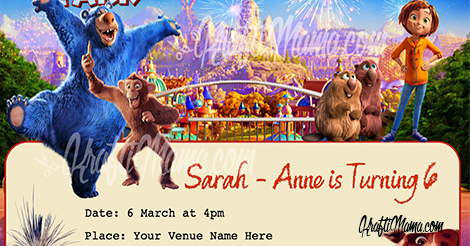 Wonder Park Party Invite FREE!