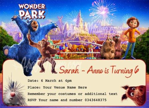 Wonder Park Party Invite Free