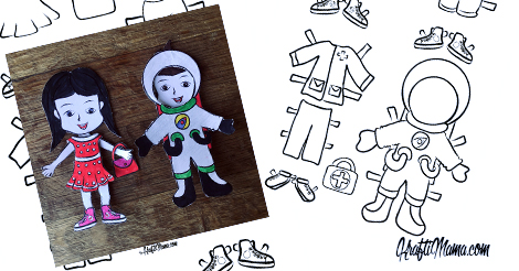 Printable Paper Dolls DIY