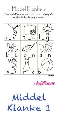 KraftiMama Alfabet, Begin, Middel en Eindklanke, Leer Lees