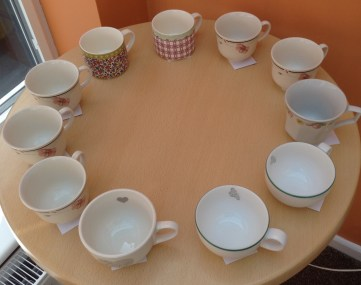 numbered cups ready darjeeling