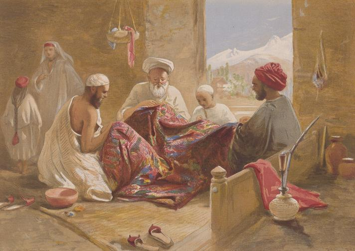 1867 - Kashmiri artisans hard at work | Kraft Kashmir