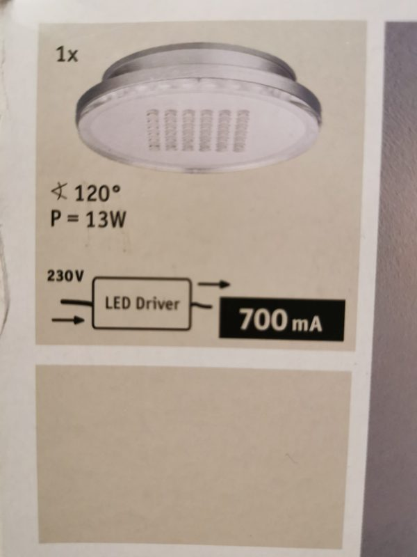 Paulmann led lampa 10w 5