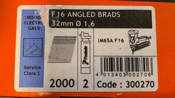 PASLODE 1,6x32mm naglas 300270 2