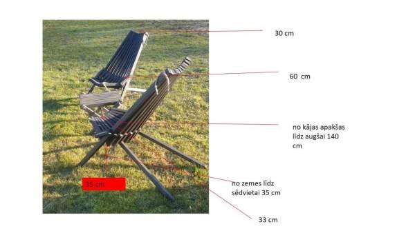 Salokāms dārza krēsls 4