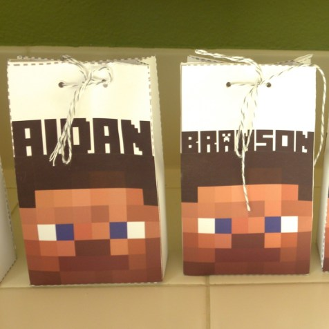 Custom personalized party favor bags.
