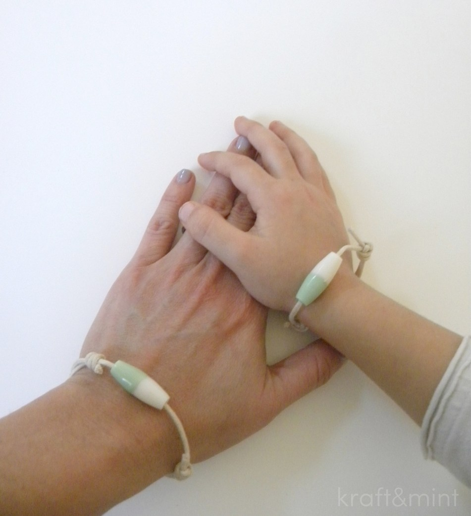 Mint bracelets, my fave color!
